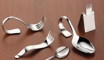 Besteck und Messerbänkchen