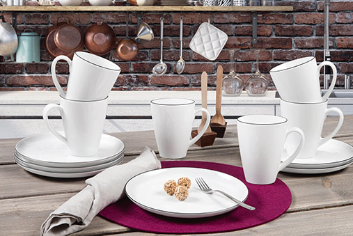 lido tafelservice 12 teilig black line seltmann weiden shop. Black Bedroom Furniture Sets. Home Design Ideas