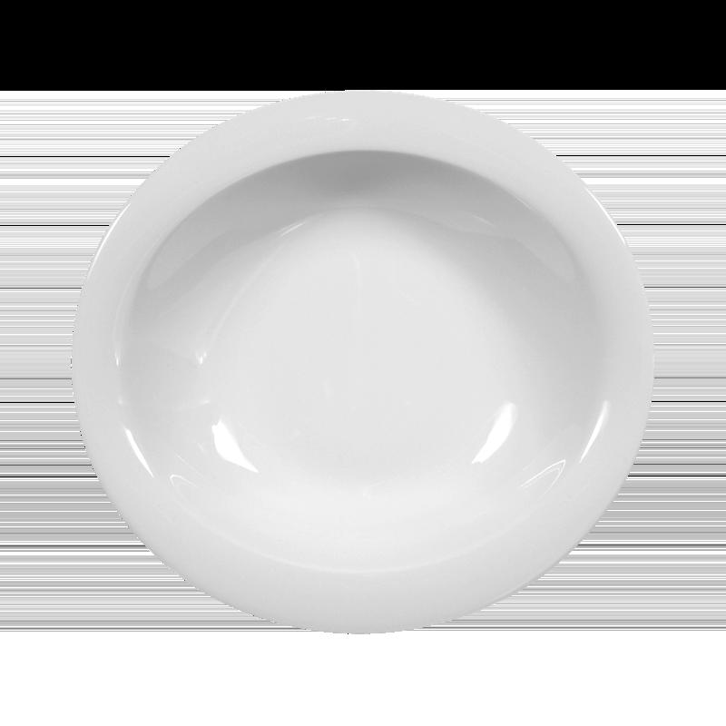 Top Life Schale oval nieder (Suppenteller) 21 cm weiß