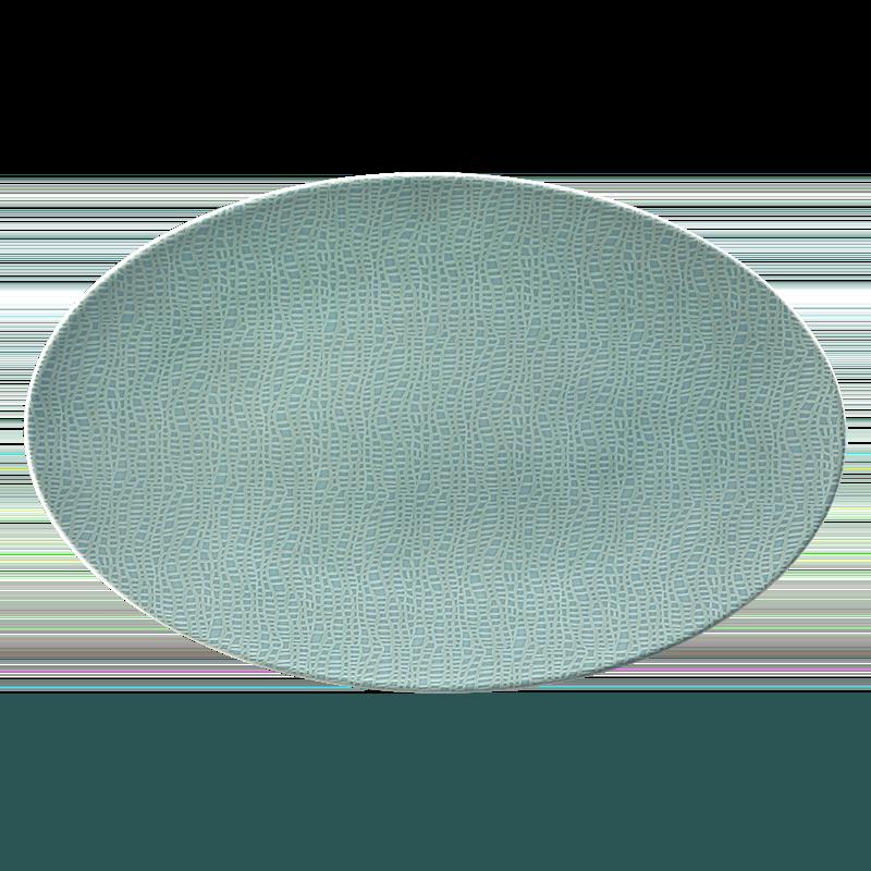 Life Servierplatte oval 40x26 cm Fashion Green Chic