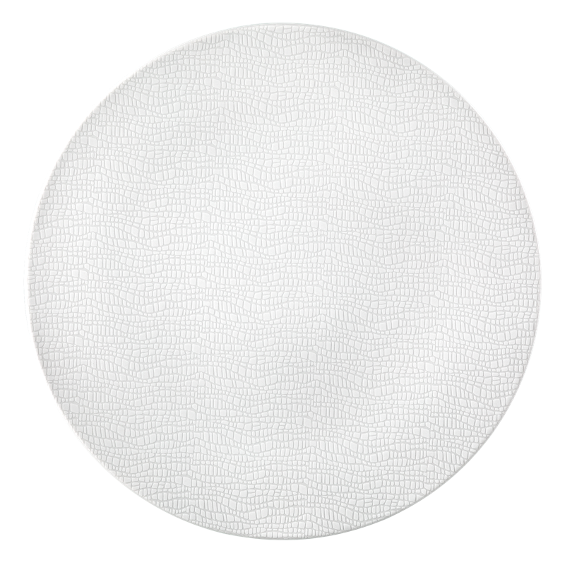 Life Servierplatte rund flach 33 cm Fashion Luxury White