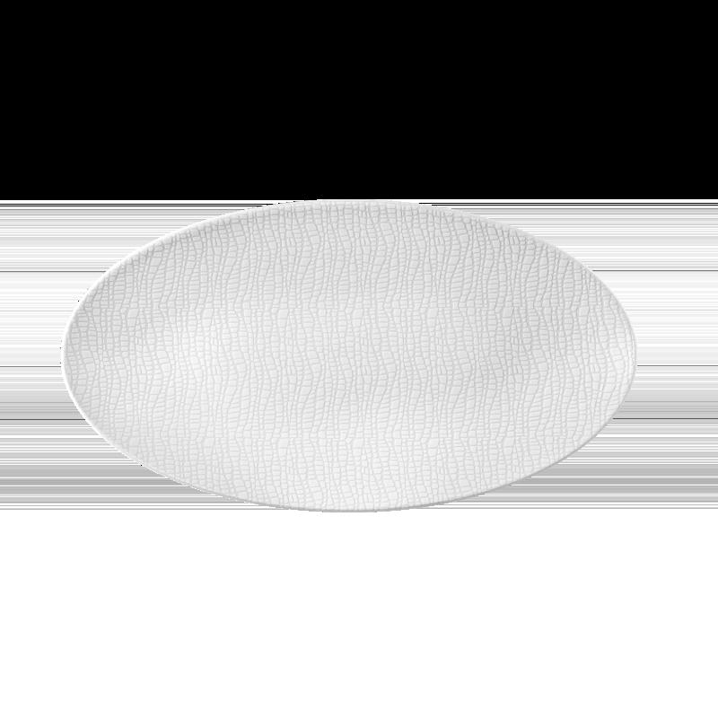 Life Servierplatte oval 33x18 cm Fashion Luxury White
