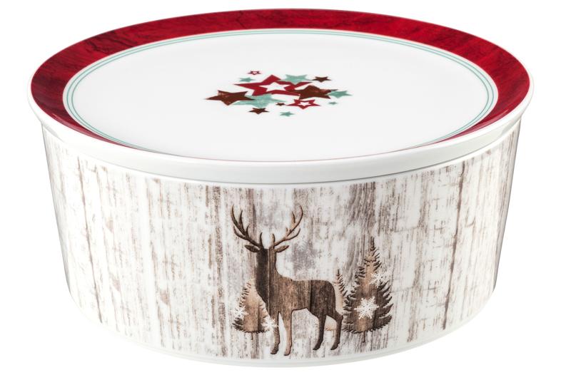 Life Schale rund 5298 mit Deckel 21x9 cm Christmas