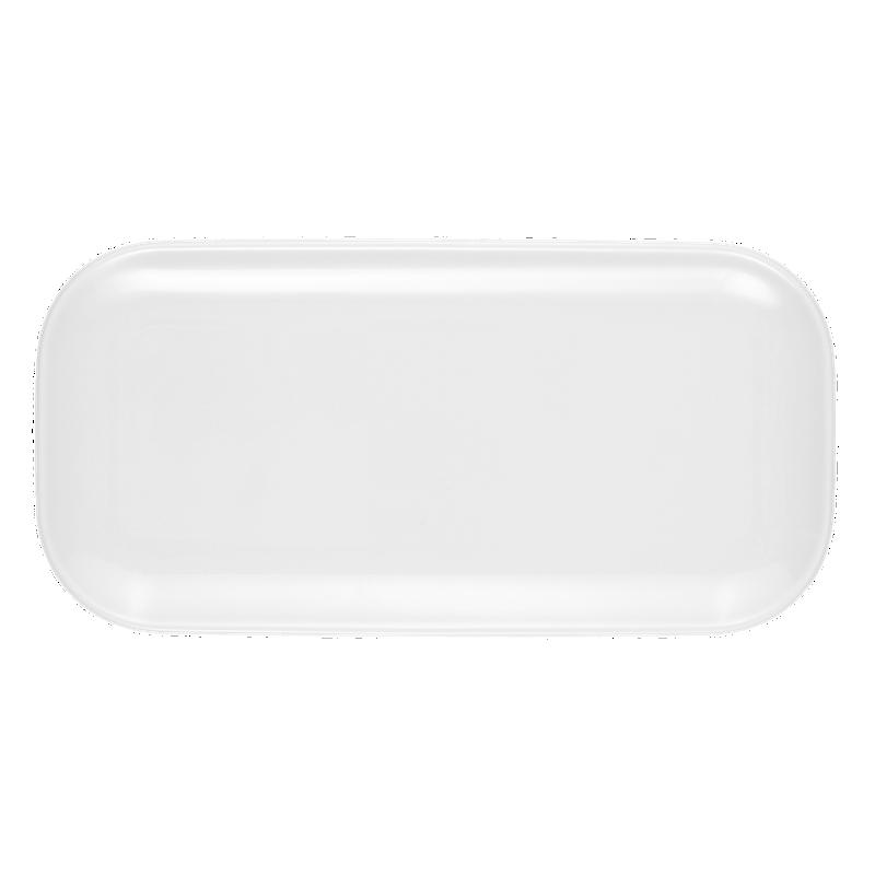 No Limits Platte eckig 24 cm x 12 cm weiß