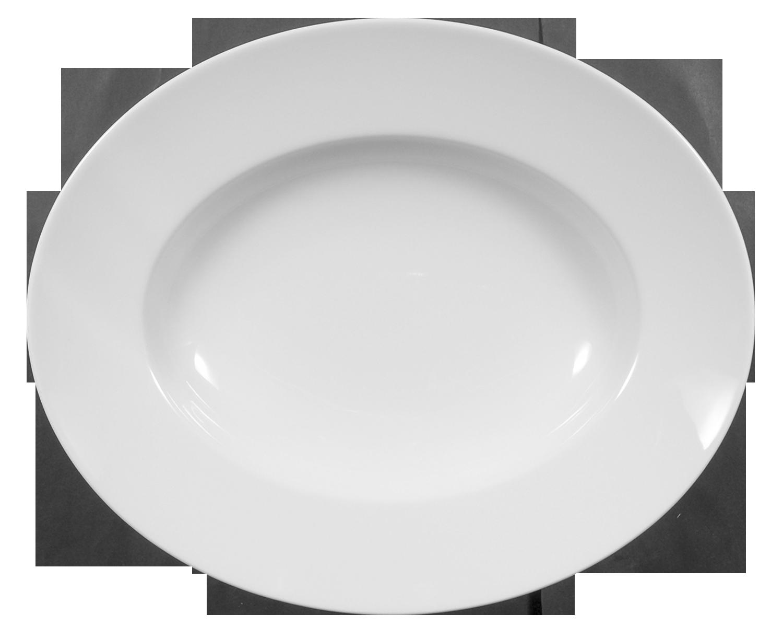 Lukullus Pastateller oval 32 cm weiß