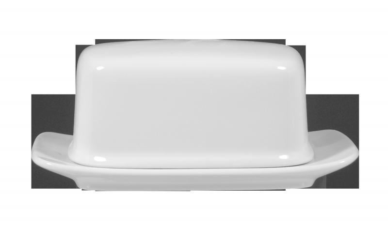 Lukullus Butterdose 1/2 Pfd weiß