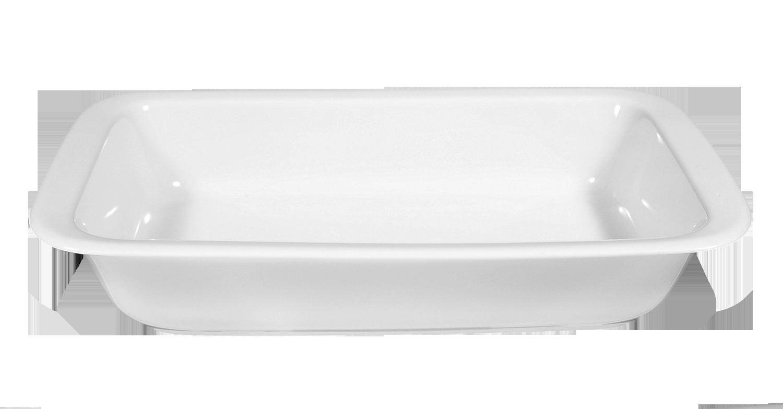 Lukullus Auflaufform eckig 35 cm weiß