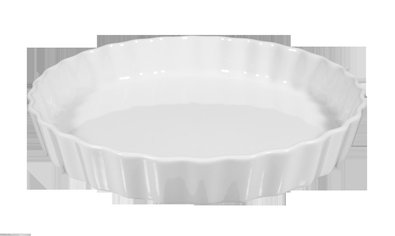 Lukullus Backform rund 25 cm weiß