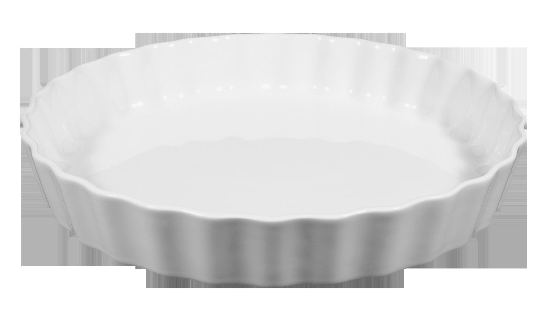 Lukullus Backform rund 30 cm weiß