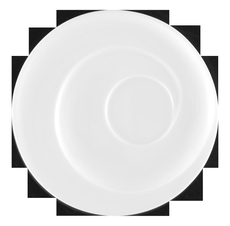 Paso Untertasse rund 16,5 cm weiß