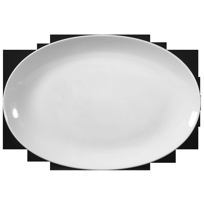 Weiss Seltmann Beat Servierplatte 35cm x 28cm 1-teilig Oval