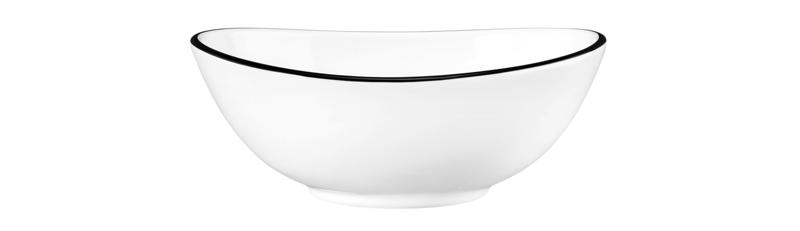 Modern Life Bowl oval M5306  12 cm Black Line
