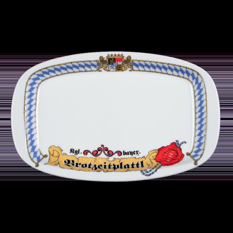 "1/2 Dick Platte oval ""Brotzeitplatte"" 26 cm Bayern"
