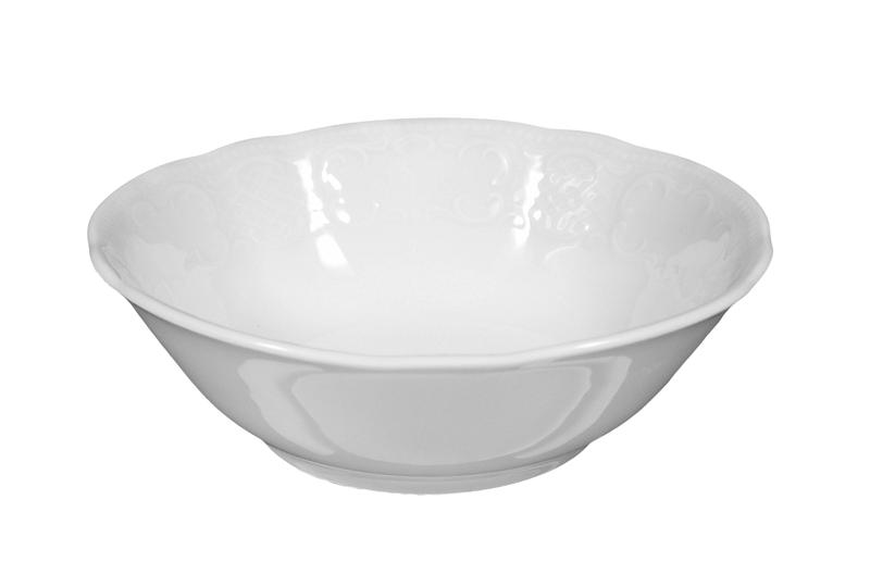 Salzburg Salats rund 15 cm weiß