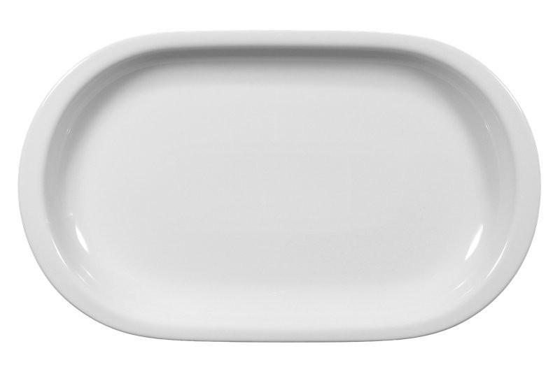 Compact Platte oval 33 cm weiß