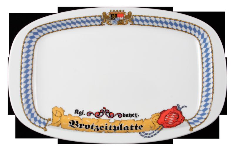 "1/2 Dick Platte oval ""Brotzeitplatte"" 29 cm Bayern"