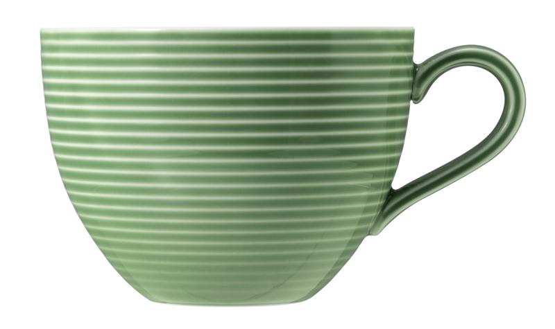 Beat Milchkaffeetasse 0,35 l mit Relief Glaze Salbeigrün