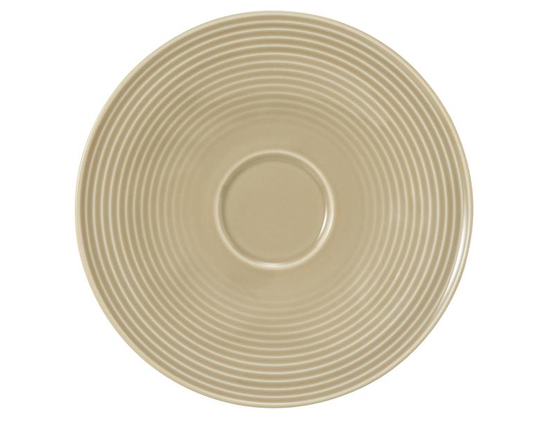 Beat Kombi-Untertasse groß 16,5 cm Glaze Sandbeige
