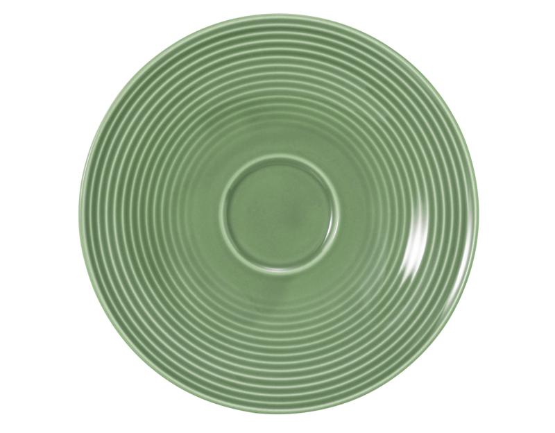 Beat Kombi-Untertasse groß 16,5 cm Glaze Salbeigrün