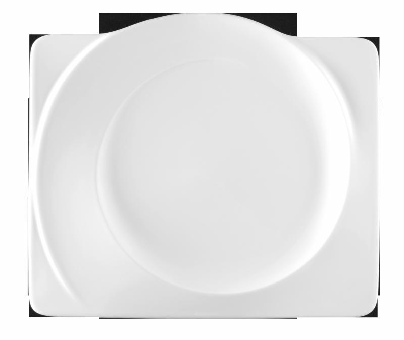 Paso Teller flach eckig 30 cm weiß