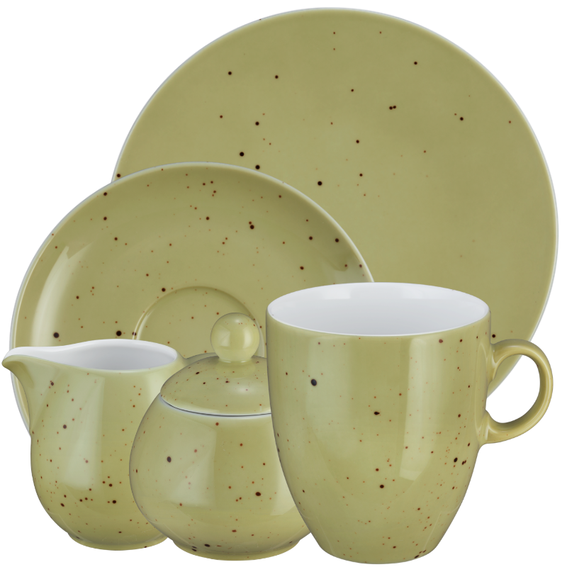 Coup Fine Dining Kaffeeservice hohe Tassen 20-teilig Country Life oliv
