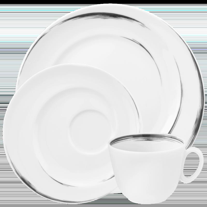 Paso Kaffeeservice 18-tlg. P Grey Brush