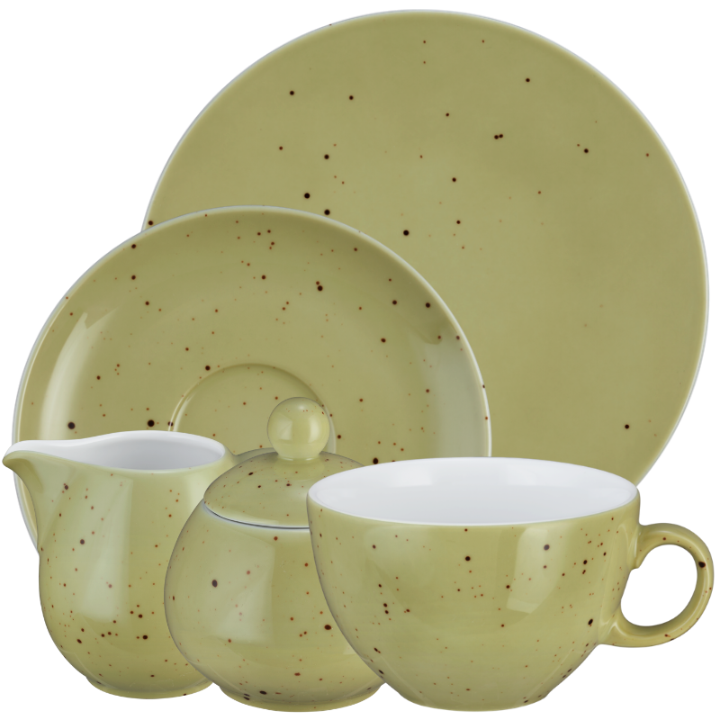 Coup Fine Dining Kaffeeservice tiefe Tassen 20-teilig Country Life oliv