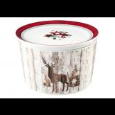 Life Schale rund 5296 mit Deckel 14x9 cm Christmas