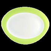 Trio Platte oval 35 cm Apfelgrün