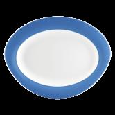 Trio Platte oval 31 cm Blau
