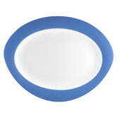 Trio Platte oval 35 cm Blau