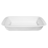 Lukullus Auflaufform eckig 38 cm weiß