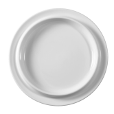 Buffet-Gourmet Platte rund 5120 18 cm weiß
