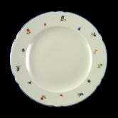 Marie-Luise Speiseteller 25 cm Streublume blauer Rand