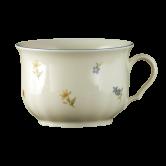 Marie-Luise Frühstückstasse 0,35 l Streublume blauer Rand