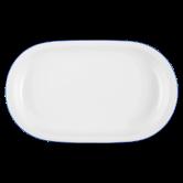 Compact Platte oval 33 cm Blaurand