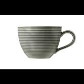 Beat Kaffeetasse 0,26 l mit Relief Glaze Perlgrau