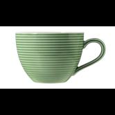 Beat Kaffeetasse 0,26 l mit Relief Color Glaze Salbeigrün