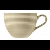 Beat Milchkaffeetasse 0,35 l mit Relief Glaze Sandbeige