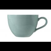 Beat Milchkaffeetasse 0,35 l mit Relief Glaze Arktisblau