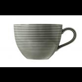 Beat Milchkaffeetasse 0,35 l mit Relief Glaze Perlgrau