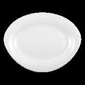 Trio Platte oval 35 cm weiß