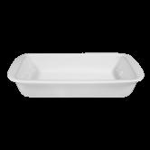 Lukullus Auflaufform eckig 30 cm weiß