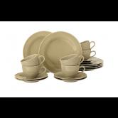 Beat Kaffeeservice 18-teilig BTR Glaze Sandbeige