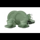 Beat Kaffeeservice 18-teilig Color Glaze Salbeigrün