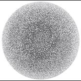 Life Servierplatte rund flach 33 cm Molecule Phantom Black Light