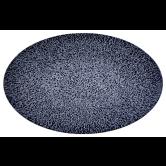 Life Servierplatte oval 40x26 cm Molecule Denim Blue