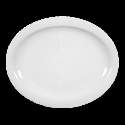 Top Life Teller oval (Platte) 31,5 cm weiß