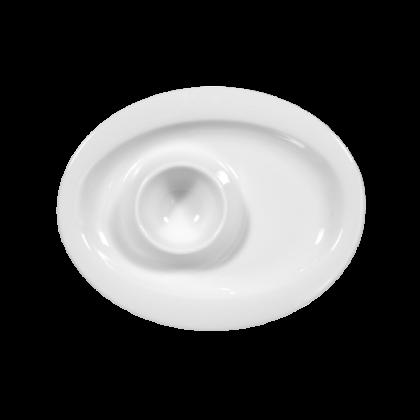 Top Life Eierbecher mit Ablage weiß