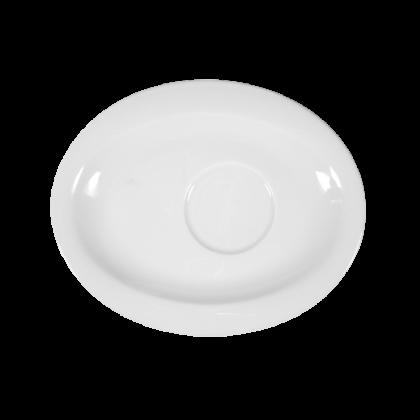 Top Life Untertasse oval 19 cm weiß
